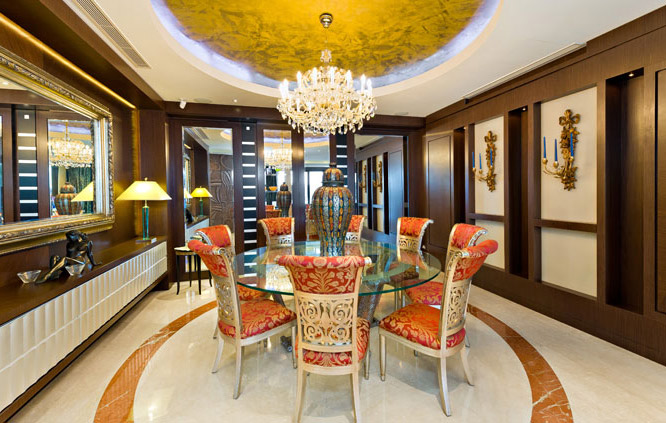 fine dining room in Sydney home