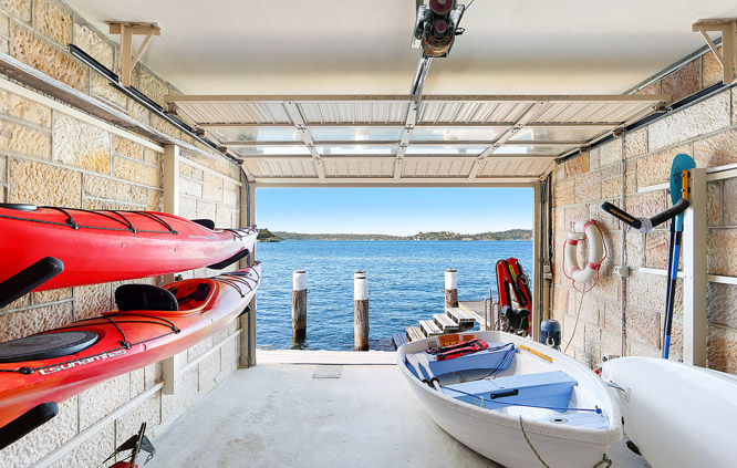 private boat shed in Sydney Harbour