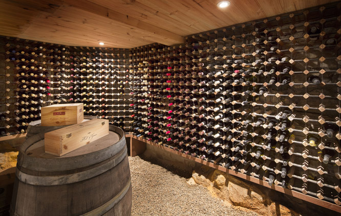 private wine cellar in Sydney luxury home