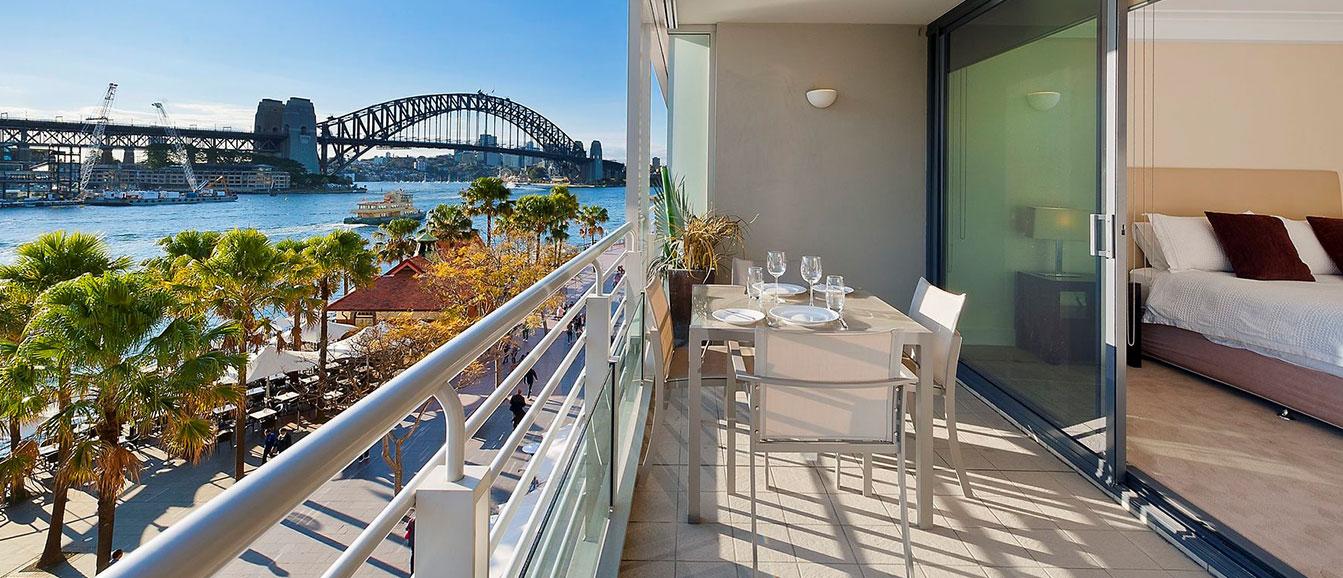 sydney harbour premium apartment balcony