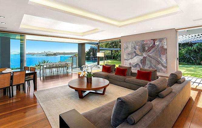 sydney harbour private luxury property